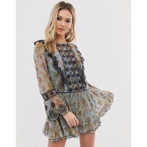 NWT Free People Country Roads Lace Mini Dress XS